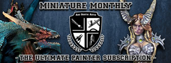 Click this graphic to check out an awesome new miniature painting program called Miniature Monthly!