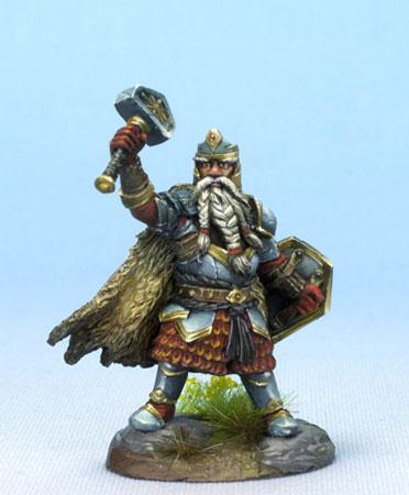 Male Dwarven Cleric With Warhammer Dark Sword Miniatures