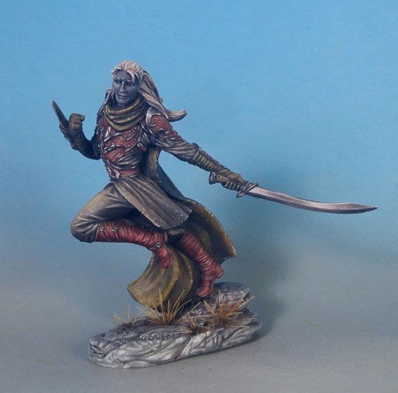 Male Elven Rogue Dark Sword Miniatures