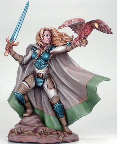DSM7409 Female Ranger W//Long Sword /& Falcon DARK SWORD MINIATURES